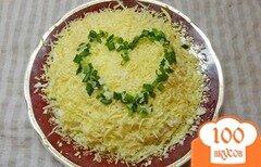 Фото рецепта: «Воздушный сырный салат с рыбой»