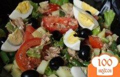 Фото рецепта: «Салат с тунцом и овощами»