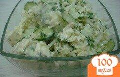 Фото рецепта: «Салат из пекинской капусты в кисло сладкой заправке»