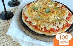 Фото рецепта: «Пицца с куриным филе и ананасом»