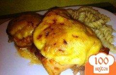 Фото рецепта: «Куриные бедрышки в томатном маринаде под сыром»