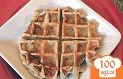 Фото рецепта: «Яблочные вафли с корицей»