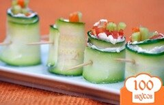 Фото рецепта: «Овощные роллы»