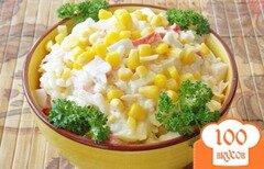 Фото рецепта: «Салат из крабовых палочек и ананасов»