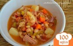 Фото рецепта: «Фасолевый суп с ветчиной»