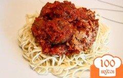 Фото рецепта: «Фрикадельки в томатном соусе»