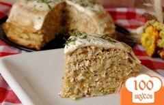 Фото рецепта: «Рязанский блинный торт»