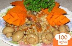 """Фото рецепта: «Каша """"Ассорти"""" с тыквой и грибами""""»"""