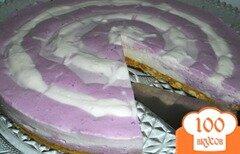 Фото рецепта: «Творожно-ягодный тортик (без выпечки)»