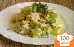 Фото рецепта: «Куриное филе с булгуром и кабачком в пароварке»