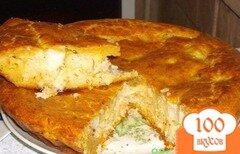Фото рецепта: «Пирог с палтусом и цукини»