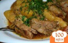 Фото рецепта: «Картошка с копчеными ребрышками»