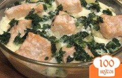 Фото рецепта: «Запеканка из семги с картофелем и шпинатом»