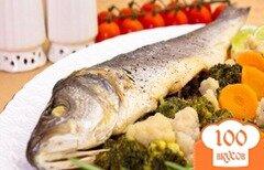 Фото рецепта: «Сибас на пару с овощами»