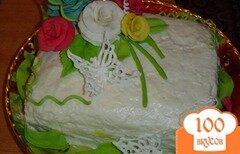 """Фото рецепта: «Торт """"Цветы для мамы""""»"""