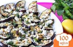 Фото рецепта: «Салат из баклажанов с козьим сыром и орешками»