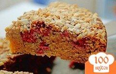 Фото рецепта: «Миндальный торт с малиной»