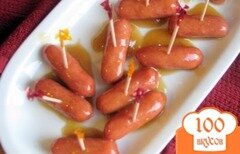 Фото рецепта: «Копчёные сардельки в кисло-сладком соусе»
