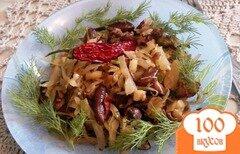 Фото рецепта: «Гарнир из квашенной капусты и фасоли»
