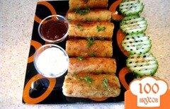 Фото рецепта: «Картофельные кнедлики с сырно-грибной начинкой»