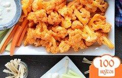 Фото рецепта: «Печеная цветная капуста в остром соусе»