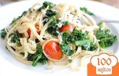 Фото рецепта: «Паста с кале и помидорами»