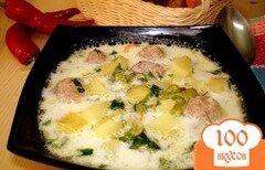 Фото рецепта: «Суп с фрикадельками и сырочками»