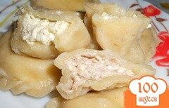 Фото рецепта: «Вареники с творожно-ореховой начинкой»
