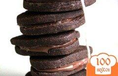 Фото рецепта: «Кофейное печенье с нутеллой»