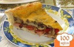 Фото рецепта: «Пицца с грибами из слоеного теста»