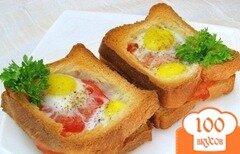 Фото рецепта: «Горячие бутерброды с яйцами»