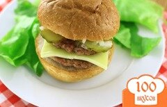 Фото рецепта: «Двойной гамбургер»