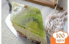 Фото рецепта: «Желейный торт с киви»