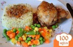Фото рецепта: «Курица с медово-пивным соусе»