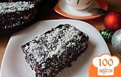 Фото рецепта: «Шоколадные пирожные с кокосом»