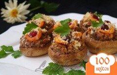 Фото рецепта: «Фаршированные шампиньоны с креветками»