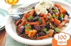 Фото рецепта: «Чечевица с запеченными овощами»