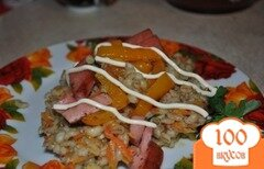 Фото рецепта: «Перловка с запеченным перцем»