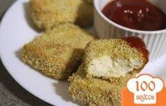 Фото рецепта: «Тофу, запеченный в сухарях»
