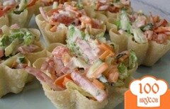 Фото рецепта: «Тарталетки с корейской морковью»