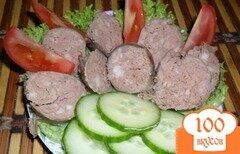 Фото рецепта: «Домашняя печеночная колбаска»