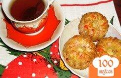 Фото рецепта: «Закусочные кексы с ветчиной и перцем»