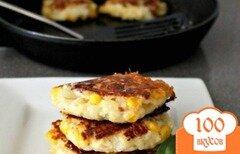 Фото рецепта: «Картофельные оладьи с сыром фета»