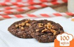 Фото рецепта: «Шоколадное печенье с карамелью»