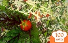 Фото рецепта: «Витаминный салат со свекольной ботвой»