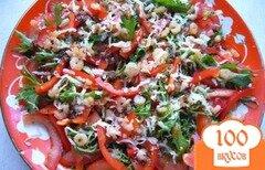 Фото рецепта: «Салат из рукколы и креветок»
