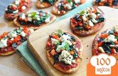 Фото рецепта: «Вегетарианская мини-пицца»