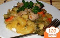 Фото рецепта: «Ароматный картофель с мясом и зеленью»