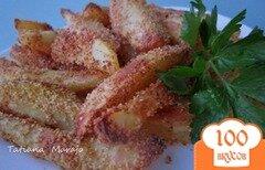 Фото рецепта: «Хрустящие картофельные дольки»