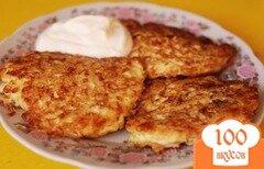 Фото рецепта: «Сырные оладьи из вермишели»